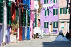 Fra l'inverno e la primavera, isola di Burano Immagine Stock Libera da Diritti