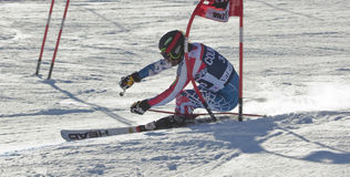 FRA : Le GS des hommes de Val D'Isere de ski alpin Photo stock