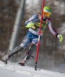 FRA : Le slalom des hommes de Val D'Isere de ski alpin Photo libre de droits