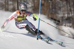 FRA : Le slalom des hommes de Val D'Isere de ski alpin Photos stock