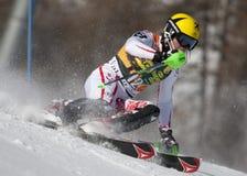 FRA : Le slalom des hommes de Val D'Isere de ski alpin Images stock