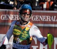 FRA : Le slalom des hommes de Val D'Isere de ski alpin Images libres de droits