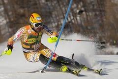FRA: Lo slalom degli uomini di Val D'Isere di sci alpino Immagini Stock Libere da Diritti