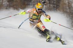 FRA: Lo slalom degli uomini di Val D'Isere di sci alpino Fotografia Stock