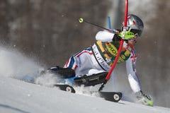FRA: Lo slalom degli uomini di Val D'Isere di sci alpino Fotografia Stock Libera da Diritti