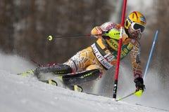 FRA: Lo slalom degli uomini di Val D'Isere di sci alpino Fotografie Stock Libere da Diritti