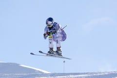 FRA: Sci alpino Val D'Isere in discesa Fotografia Stock