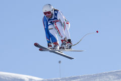 FRA : Ski alpin Val D'Isere en descendant Photo libre de droits