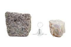 Fra una roccia e un posto duro Fotografia Stock