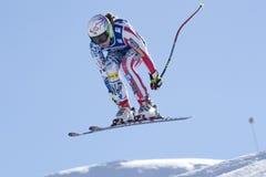 FRA :高山滑雪下坡Val D'Isere 免版税库存图片