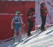 FRA: Val D'Isere för alpin skidåkning mäns GS Arkivbild
