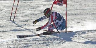 FRA: Val D'Isere för alpin skidåkning mäns GS Arkivfoto