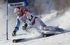 FRA: Val D'Isere för alpin skidåkning mäns GS Royaltyfria Foton