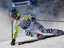 FRA: Val D'Isere för alpin skidåkning mäns GS Royaltyfria Bilder