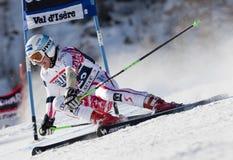 FRA: Val D'Isere för alpin skidåkning mäns GS Fotografering för Bildbyråer