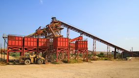 Frac sand Industrial Facility. Rock crushing frac sand Industrial Facility Stock Images