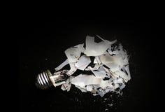 Fracas d'ampoule photo stock