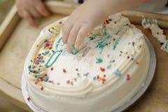 Fracas de gâteau Image libre de droits