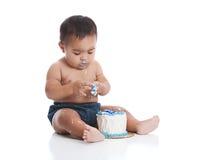 Fracas de gâteau photo libre de droits