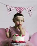 Fracas de gâteau Images libres de droits