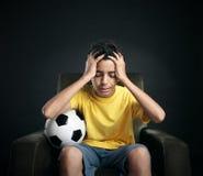 Fracaso del fútbol imagen de archivo