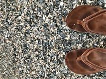 Fracasos de tirón en la playa Imagen de archivo libre de regalías
