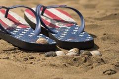 Fracasos de tirón en la playa Imagen de archivo