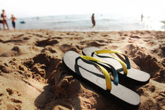Fracasos de tirón en la playa Fotos de archivo libres de regalías