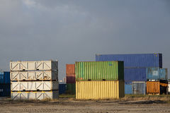 Fracht-Behälter Stockfoto