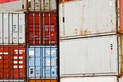 Fracht-Behälter-Matrixblöcke lizenzfreies stockbild