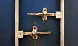 Fracht-Behälter-Front Stockfoto