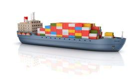 Fracht-Containerschiff lizenzfreie abbildung