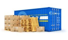 Fracht-, Verschiffen- und Logistikkonzept vektor abbildung