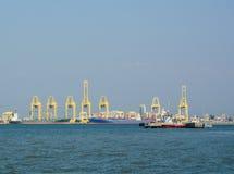 Fracht-Hafen in Penang, Malaysia Lizenzfreies Stockbild
