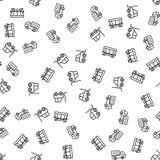 Fracht-Handelslogistik-nahtloser Muster-Vektor lizenzfreie abbildung