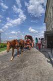 Fracht jedzie Kazan Kremlin zdjęcia stock