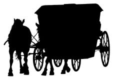 Fracht konie trzy ilustracja wektor