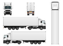 Fracht-LKW-Anhängervektorschablone lizenzfreie abbildung
