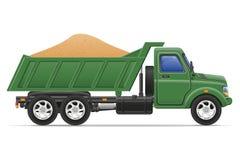 Fracht-LKW-Lieferung und Transport des Baumaterials Stockbild