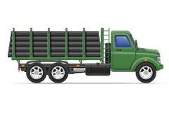 Fracht-LKW-Lieferung und Transport des Baumaterials Stockfotografie