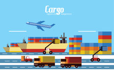 Fracht, Logistik und Transport Lizenzfreie Stockfotografie