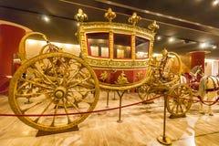 Fracht w Hall historyczni transportów pojazdy Pope, Watykański muzeum Ja Obraz Stock