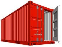 Frachtbehälter für die Transportarbeit lokalisiert lizenzfreie abbildung