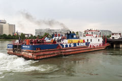 Frachtbootsnahaufnahme Mercur 201 Lizenzfreies Stockbild