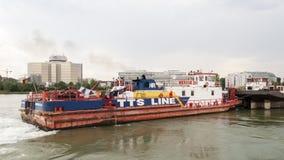Frachtbootsnahaufnahme Mercur 201 Stockbild