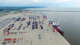 Frachthafen Bronka, Vogelperspektive Stockfotos
