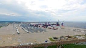 Frachthafen Bronka, Vogelperspektive Stockfotografie