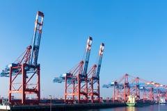 Frachthafen von Hamburg, Deutschland Lizenzfreie Stockfotos