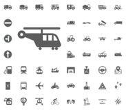 Frachthubschrauberikone Gesetzte Ikonen des Transportes und der Logistik Gesetzte Ikonen des Transportes Lizenzfreie Stockfotografie