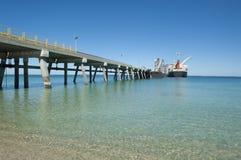 frachtowy jetty rurociąg statek fotografia stock